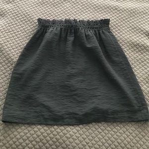 J.Crew high waist charcoal skirt